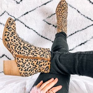 NWT Leopard Booties